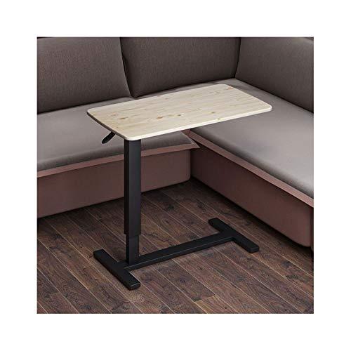 ALBBMY Mesa para Ordenador Portátil con Ruedas Escritorio Mesa Auxiliar Cama (Color : Light Wood Black Legs)