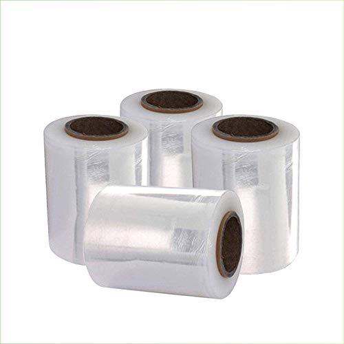 VIRSUS 4 rotoli estensibile manuale rotolo film pellicola per imballare pacchi piccole pedane 300 gr