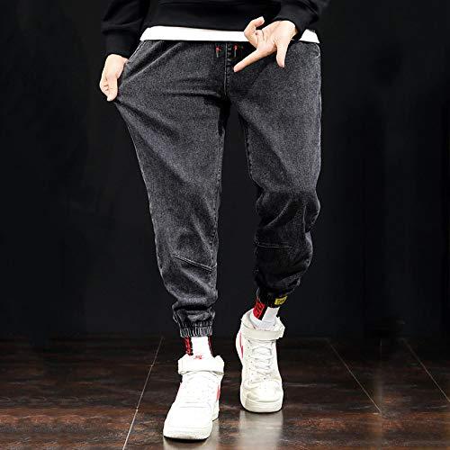 Vaqueros para Jeans Moda Hombre Jeans Casual Suelto hasta El Tobillo Pantalones De Mezclilla Solid Jeans Homme Streetwear Talla Grande Is-4X