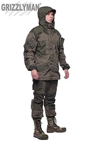 GRIZZLYMAN Traje de uniforme ruso Gorka-5 Premium | Caza, pesca, camping, bushcraft | Resistente al viento y al agua Ripstop Fabric| UK Stock (5, 2XL (pecho 120-124 cm)