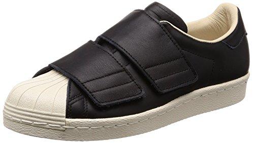 adidas Damen Superstar 80s CF Gymnastikschuhe, Schwarz (Core Black/core Black/Linen S17), 38 2/3 EU