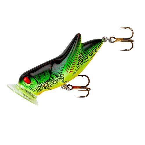 Rebel Crickhopper Popper Fishing Lure - Fire Tiger, 1 3/4-Inch, 3/16 ounce
