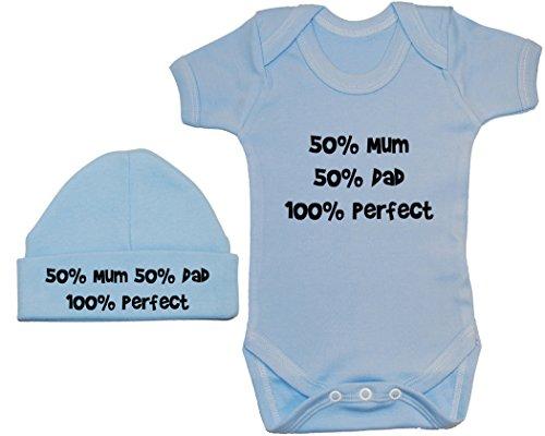 Acce Products - Body - Uni - Manches Courtes - Bébé (garçon) 0 à 24 Mois - Bleu - XXXS