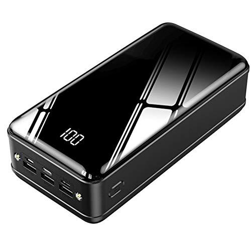 Power Bank 50000Mah Cargador Portátil De Gran Capacidad con Pantalla LCD, Batería Externa con 3 Puertos De Entrada Y Salida USB Paquete De Batería De Carga Rápida USB-C para iPhone Samsung Y Más
