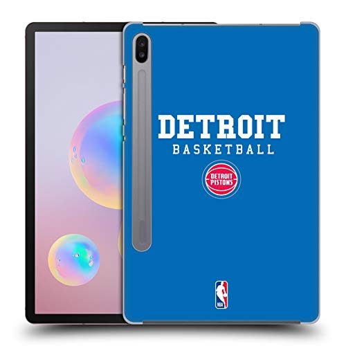 Head Case Designs Oficial NBA Pistones Detroit Baloncesto 2018/19 Team Slogans 2 Carcasa rígida Compatible con Samsung Galaxy Tab S6 (2019)