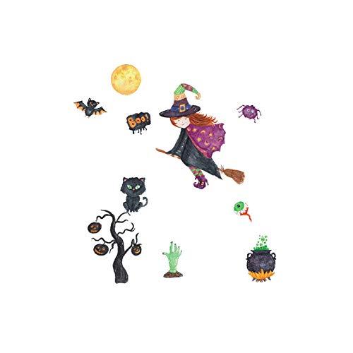 YCEOT Kleine Heks Meisje Muursticker voor Kinderen Kamer Decoratie PVC Zelfklevende Stickers Leuke Slaapkamer Decor