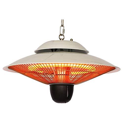 QIULAO Patio al Aire Libre Calentador eléctrico Colgante halógena de 1500 W lámpara Colgante Calentador for Gazebo del jardín Veranda Montaje en Techo (Color : B)
