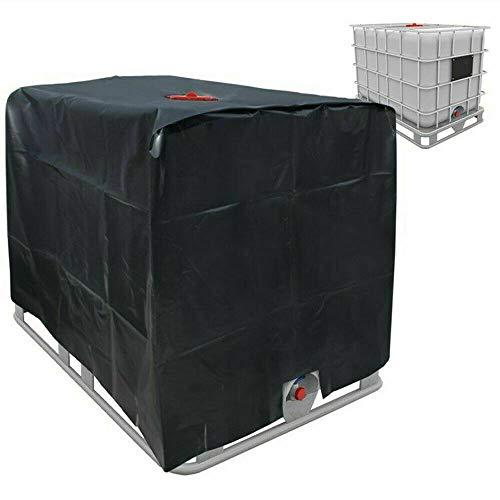 Folienabdeckung Sonnenschutzhaube für Regenwassertank 1000 L IBC Container schwarz