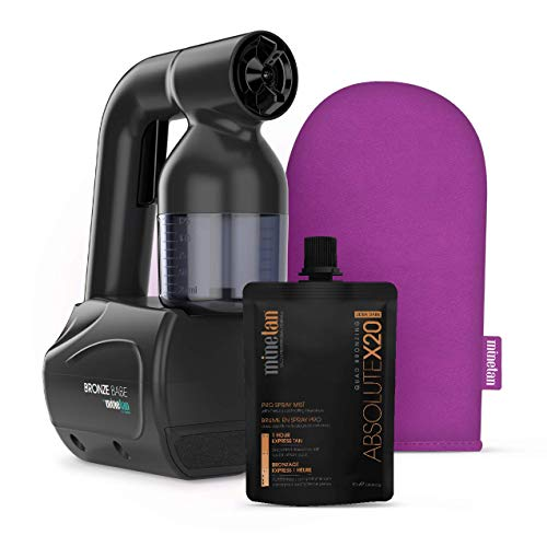 MINETAN BODY.SKIN Bronze Babe Personal Spray Tan Kit Black - Portable, At Home Spray Tan Machine...