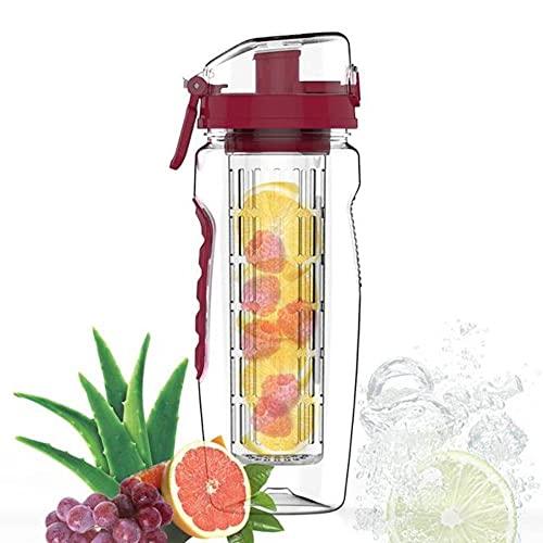 32oz 900ml Fruta Infusor Juice Shaker Botella de agua de lim¨n deportivo Tour Senderismo Botellas port¨¢tiles de campamento de escalada-ESPA?A, 900ml, G
