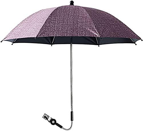 LIUPING Paraguas para Cochecito Parasol Universal Ø75 Cm para Cochecito Protección Solar UV Varios Accesorios para Cochecito (Color : Red, Size : 85cm)