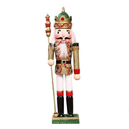 chinejaper Cascanueces de Navidad, cascanueces de madera, juguete de marioneta para fiestas temticas de Navidad, patio al aire libre, decoracin colgante