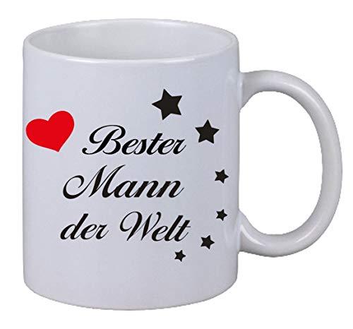 Netspares 118863233 Kaffee Tasse Becher Bester Mann der Welt Geschenk Geburtstag Liebe Ehemann, Weiß