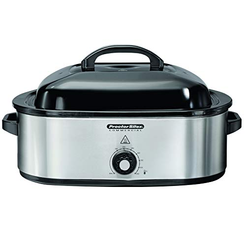 Proctor Silex Commercial 18 Quart Roaster Oven, Food Warmer, Stainless Steel (32921)