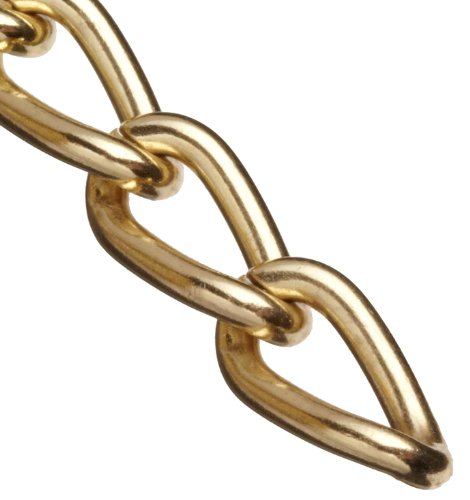Campbell 0712017 Hobby and Craft Twist Chain, Brass Plated, #200 Trade, 0.079