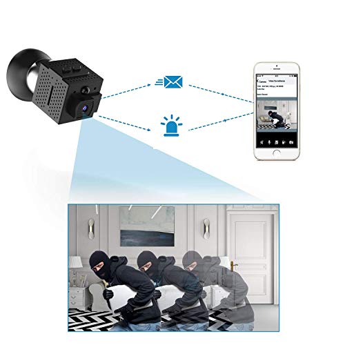 Wireless Home Security Camera , Conbrov WF98 960P Mini Camera Surveillance Video Recorder Body Camera with Motion Detection and Night Vision, Support Max 128GB (NO SD CARD)