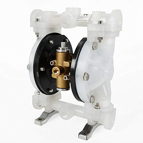 """Air-Operated Double Diaphragm Pump Petroleum Fluids Waste Oil Inlet & Outlet Anti-Corrosion QBY-15PP 1/2"""" Outlet 5M Lift Stepless Adjustment Easy to Install Use USA STOCK"""