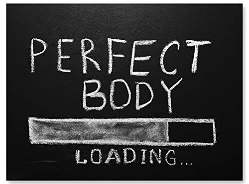 wandmotiv24 Leinwand-Bild Motivation, Größe 60x45cm, Querformat, Perfect Body, Training, Fitness, Bilder mit Sprüchen perfekt für Sport & Fitness, Psychologie, Wunder, Dekoration Wohnung modern M0059