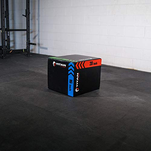 Titan Fitness 3-in-1 Heavy Foam Plyometric Box 16
