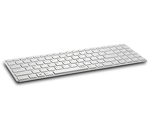 RAPOO E9100P RF Wireless Weisses Keyboard, E9100P Kabellose Ultraflachtastatur (DEU Layout - QWERTZ)