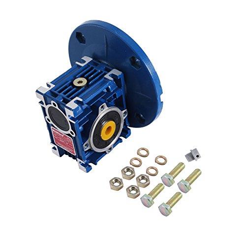 Happybuy Speed Reducer Ratio 20/1 Worm Gear Speed Reducer 1750RPM High Torque Worm Gear Reducer Perfect for Electric Door Mini Crane Hoist