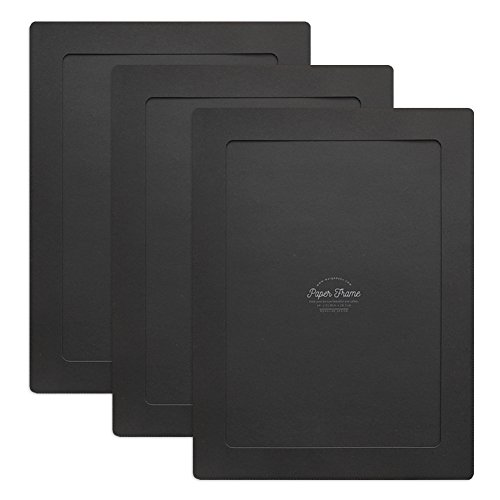 Monolike Paper Photo Frames A4 Black 3 Pack - Fits A4 Pictures