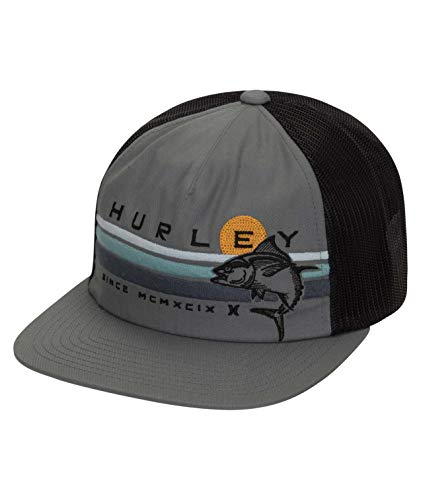 Hurley M Fly Fishin Hat Gorra, Hombre, Cool Grey, 1SIZE