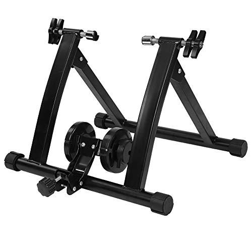 Wosume Soporte para Bicicleta/Entrenador de Bicicleta, Entrenador de Bicicleta de Acero Plegable para Interiores Soporte de Entrenamiento de Bicicleta de Resistencia de 7 Niveles