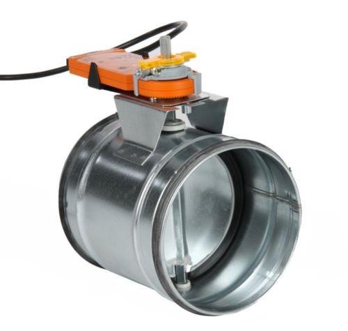 Intelmann Absperrklappe 200 mm + Belimo CM230-L Stellantrieb (80 100 125 150 160 180 200)
