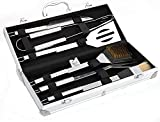 Cakunmik 6PCS Grillbesteck Set, Grillbesteck-Set, Outdoor Grill, BBQ Grill, Barbecue Set, Bürste,...