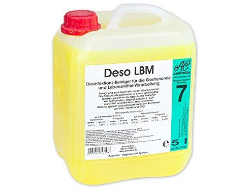 Assindia Deso LBM II IHO-gelisteter Desinfektionsreiniger Profi Desinfektion IHO geprüft ! 5l