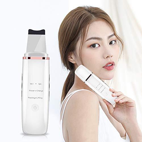 Épurateur Ultrasonique Visage Cleaner Traitement Exfoliation Vibration Appareil de Massage Facial Peeling Machine Nettoyeur de Pores avec 4 Modes USB Rechargeable