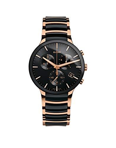 Orologio Rado Centrix per uomo con cronografo, in ceramica nera e acciaio...