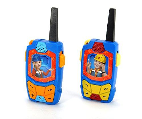 Dickie Toys 203131011 Bob der Baumeister Walkie Talkie Funkgeräte-Set mit Einer Reichweite und Rauschunterdrückung, 15 cm