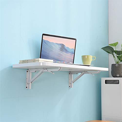 Folding table Mesa Montada En La Pared, Mesa Plegable De Pared Blanca para Ahorrar Espacio, Escritorio para Fijar En La Pared - Capacidad 60 Kg