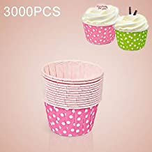 AYSMG 3000 PCS Dot Pattern Round Lamination Cake Cup Muffin Cases Chocolate Cupcake Liner Baking Cup, Size: 5.8 x 4.4 x 3.5cm (Pink) ALISUONG (Color : Purple)