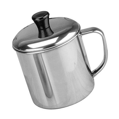 Sharplace Tasse Inox Café Tasse Mug Café/Eau Désign Élégant Tasse Inoxydable avec Poignée Léger - 11 cm (850 ml)