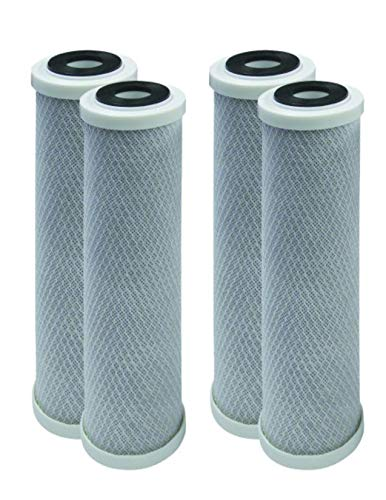 CFS COMPLETE FILTRATION SERVICES EST.2006 Compatible for Water Filter GE GXWH04F, GXWH20F, GXWH20S & GXRM10 Multi-Pack, Carbon Block Replacement Cartridge, Set of 4