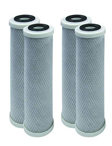 Kompatible Wasserfilter für GE GXWH04F, GXWH20F, GXWH20S & GXRM10, Multi-Pack, Carbonblock-Ersatzkartusche, 4 Stück