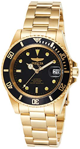 Invicta Men's Pro Diver 40mm Gold Tone Stainless Steel Automatic Watch with Coin...