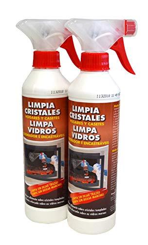 PYRO FEU 24512-12 Limpiacristales para Chimenea Antihollin Pack de 2 x 500 ml