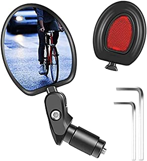 1pc Specchietti Bici Specchio Retrovisore Convesso Regolabile 360 ° per Biciclette Motociclette e Veicoli Scooter con Diam...