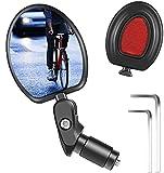 Espejo retrovisor para bicicleta, ajustable 360°, espejo de extremo, giratorio, para bicicleta de 17,4 – 22 mm, para manillar de bicicleta, para bicicletas de carreras eléctricas y de montaña