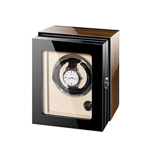 KHUY Reloj Winder5 para relojes automáticos, enrollador de relojes con motor supersilencioso, caja de reloj ajustable para relojes mecánicos de hombre y mujer (color: 1 reloj)