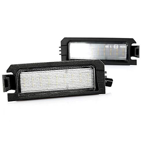 2 x LED Kennzeichenbeleuchtung Nummernschildbeleuchtung Canbus Plug&Play E-Prüfzeichen V-032111