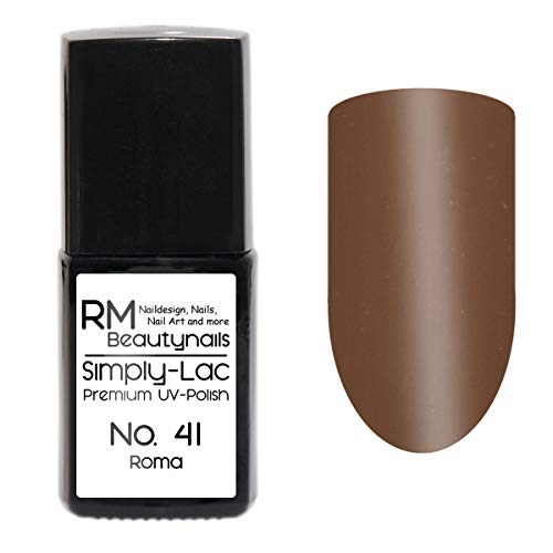 Simply-Lac Premium UV-Lack Nr. 41 Roma Beige Nude Braun Herbst Farbe 10ml Nagelgel UV-Nagellack