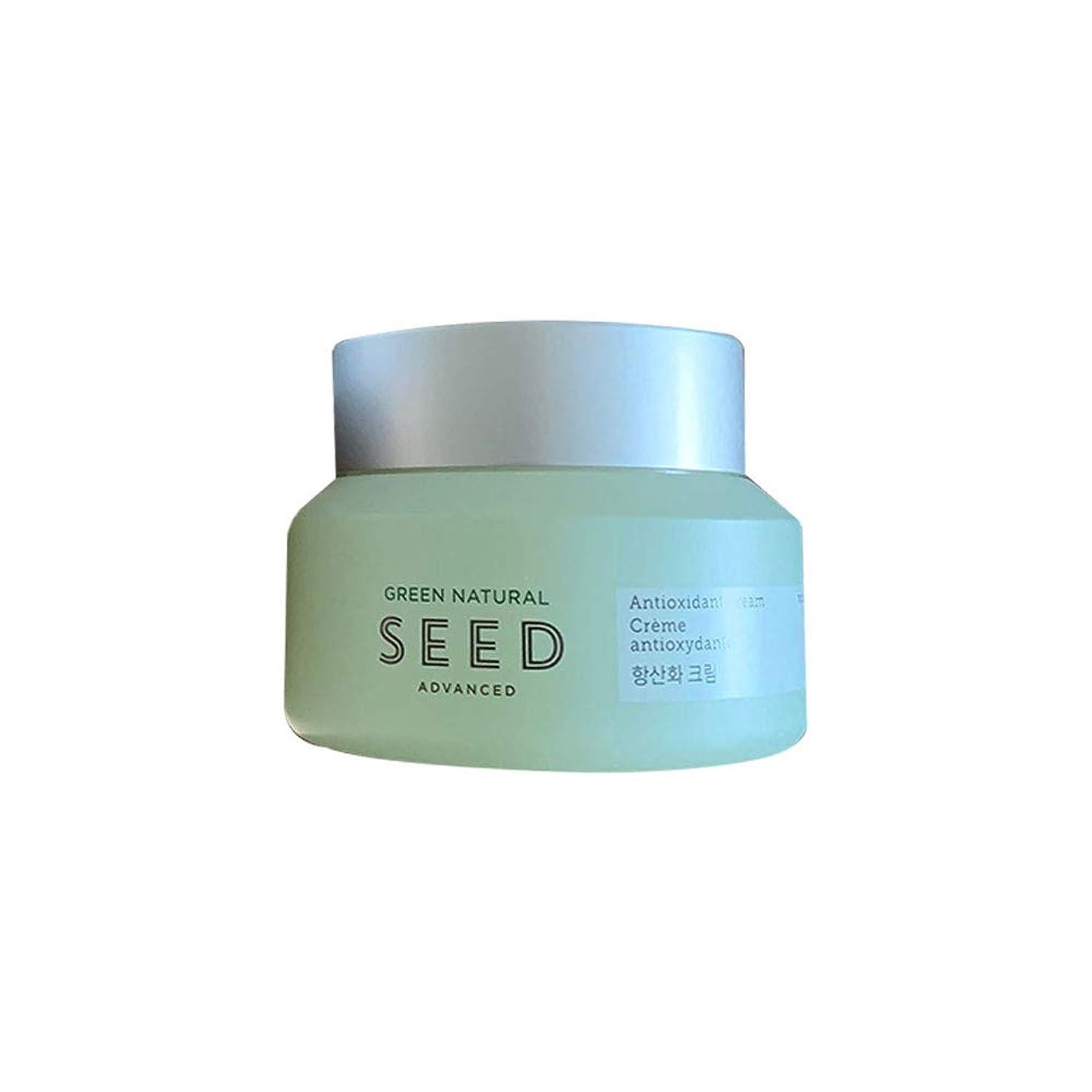 人工応じるバレル[ザフェイスショップ]The Face Shop グリーンナチュラルシード抗-酸化クリーム 50ml Green Natural Seed An-tioxidant Cream 50ml [海外直送品]