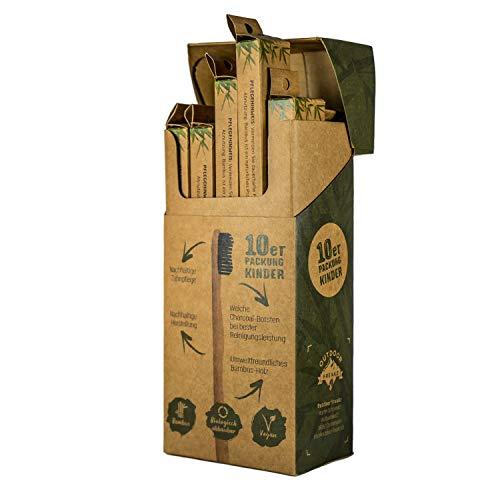 OUTDOOR FREAKZ Bambus Zahnbürste (10er Kinder: 5 x Äffchen + 5 x Frosch)