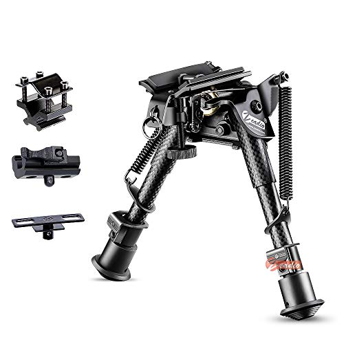 Zeadio Quick-Detachable Foldable Bipod with Built-in Clamp for Rifle Air Gun UK