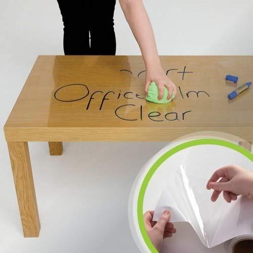Rollo adhesivo de Pizarra transparente - 5m² - para adherirlo sobre diferentes colores - ideal para la oficina, cocina y mobiliario - para escribir con rotuladores
